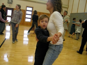 sadly, the only photo I can find of Aidan and me at All School Sing